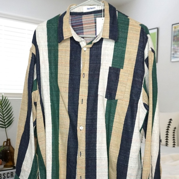 Zaful Other - Hipster Striped Button Down